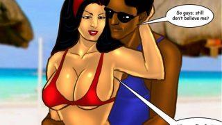 Savita Bhabhi – Sexy Summer Beach hard fuck on the beach